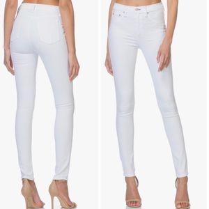 Rag&Bone High Rise Skinny Jeans In White